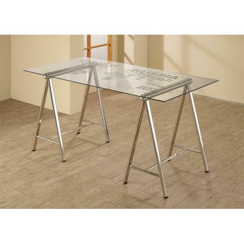 Contemporary Nickel Writing Desk