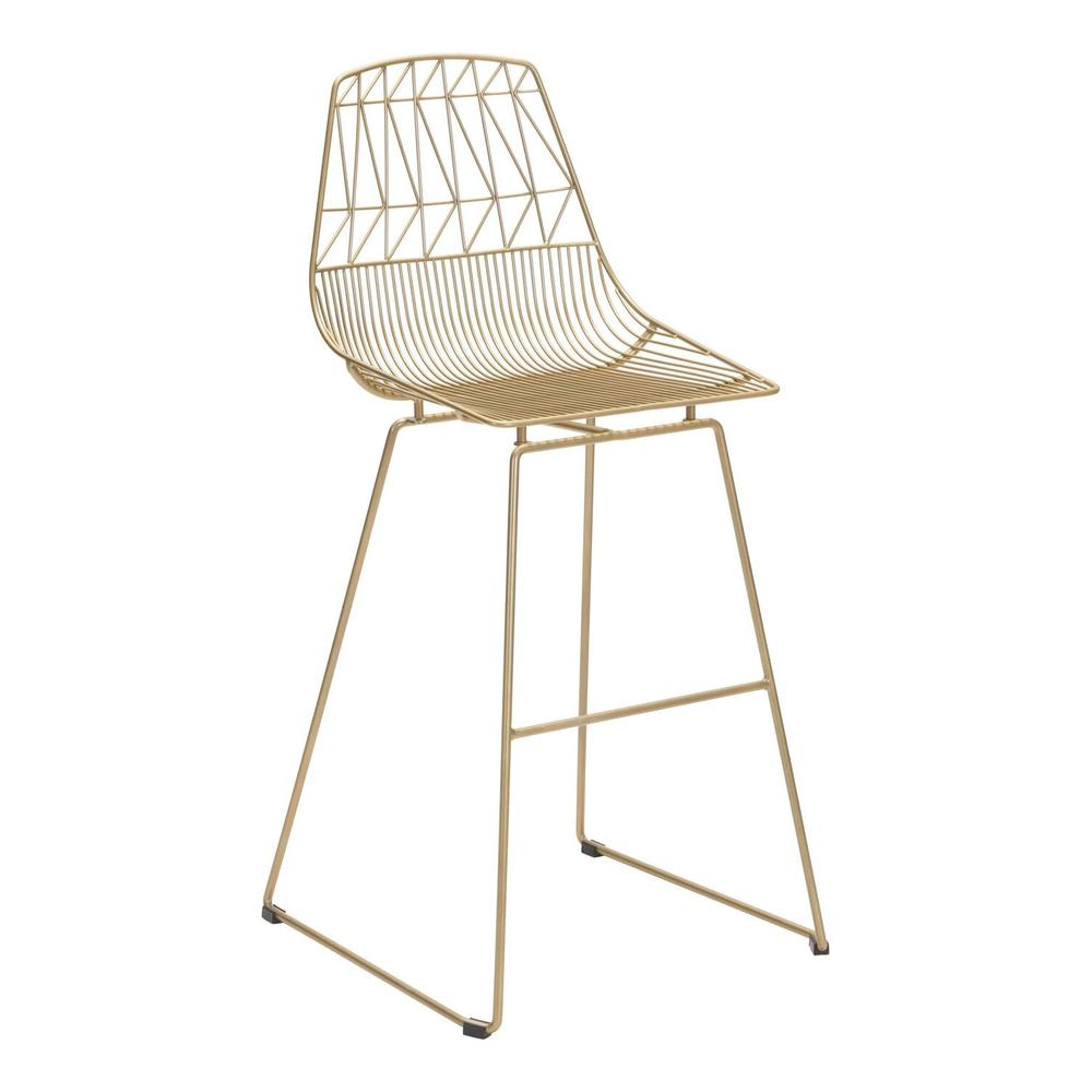 See Details - Brody Bar Chair Gold