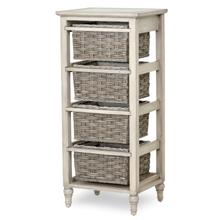 B59106 - 4-Basket Vertical Storage Cabinet - Two Toned Gray Finish