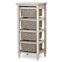 4-Basket Vertical Storage Cabinet - Two Toned Gray Finish
