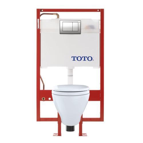 Aquia® Wall-Hung Toilet & DUOFIT In-Wall Tank System, 1.6 GPF & 0.9 GPF, Elongated Bowl - Cotton