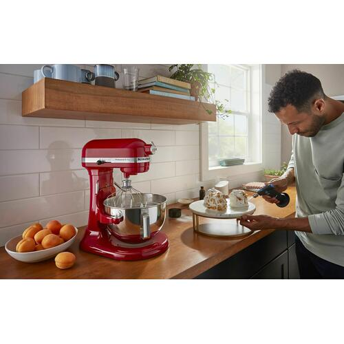 KitchenAid - Professional 5™ Plus Series 5 Quart Bowl-Lift Stand Mixer with Flex Edge Beater Bundle - Empire Red
