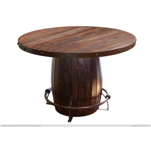 Table Base Barrel w/ Iron footrest