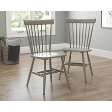 Modern Farmhouse Spindle Chairs in Gray