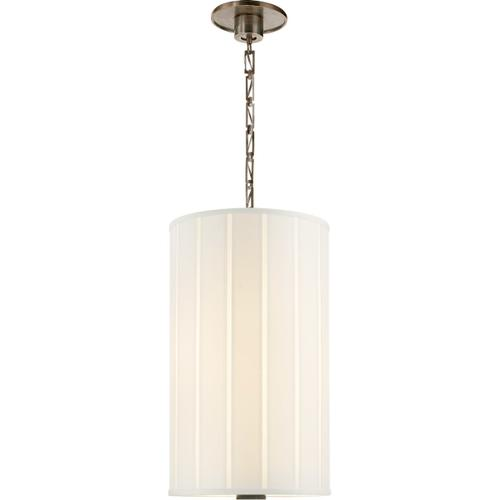 Visual Comfort - Barbara Barry Perfect Pleat 2 Light 13 inch Pewter Finish Hanging Shade Ceiling Light