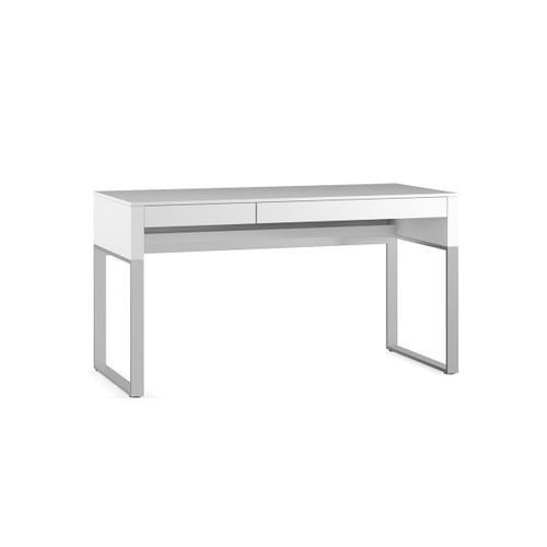 6201 Desk in Smooth Satin White