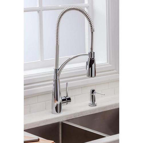 Elkay - Elkay Avado Single Hole Kitchen Faucet with Semi-Professional Spout Forward Only Lever Handle Chrome