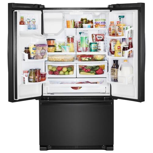 Gallery - 36-inch Wide French Door Refrigerator - 25 cu. ft. Black