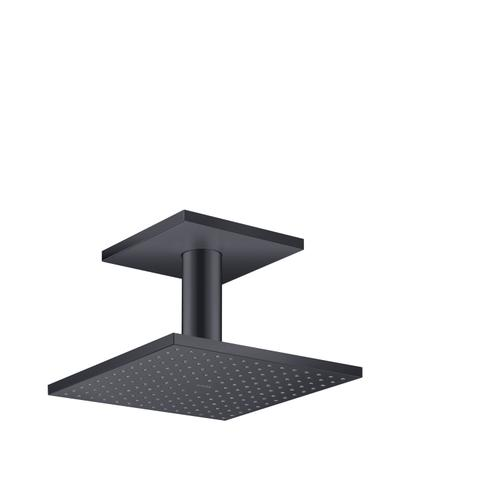 Satin Black Overhead shower 250/250 2jet with ceiling connection