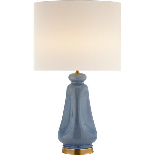 AERIN Kapila 29 inch 60 watt Polar Blue Crackle Table Lamp Portable Light
