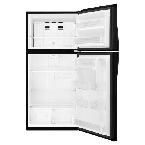 "Whirlpool® 30"" Wide Top-Freezer Refrigerator with LED Interior Lighting"