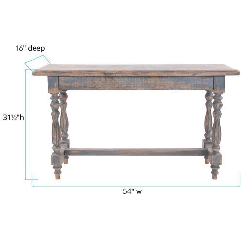 Howard Elliott - Distressed Farm House Console Table