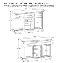 Howard Miller Extra Tall Custom TV Console XT63C