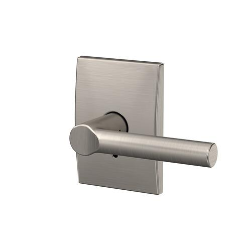 Custom Broadway Lever with Century Trim Hall-Closet and Bed-Bath Lock - Satin Nickel