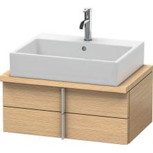 View Product - Vanity Unit For Console Compact, Brushed Oak (real Wood Veneer)