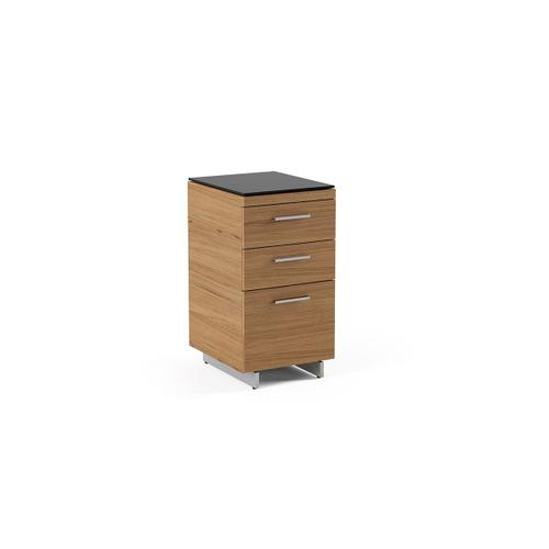 3 Drawer File Cabinet 6014 in Natural Walnut