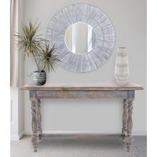 View Product - Distressed Farm House Console Table