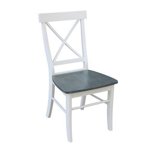 X-Back Chair in White Grey