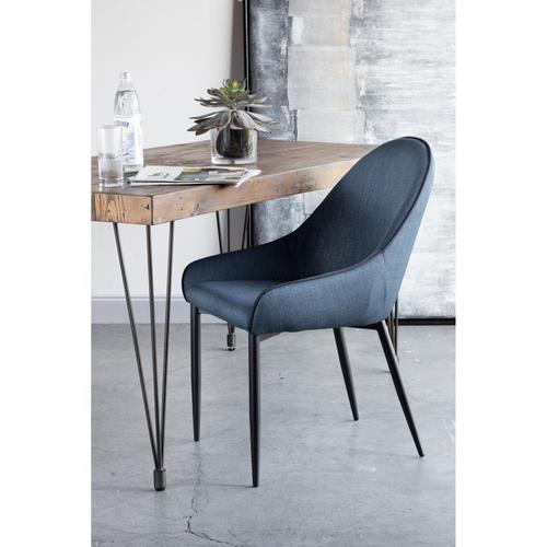 Moe's Home Collection - Lapis Dining Chair Dark Blue-m2