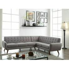 ACME Essick Sectional Sofa - 52765 - Light Gray Linen