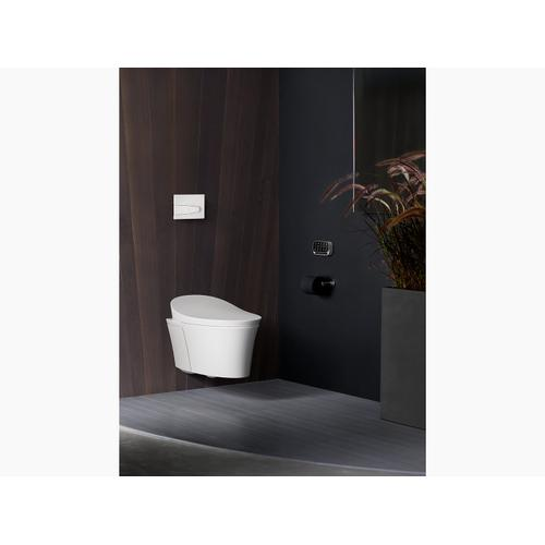 White Intelligent Compact Elongated Dual-flush Wall Hung Toilet