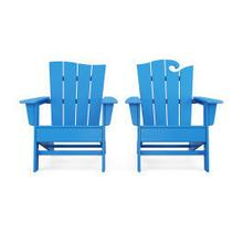 View Product - Wave 2-Piece Adirondack Set with The Wave Chair Left in Vintage Pacific Blue