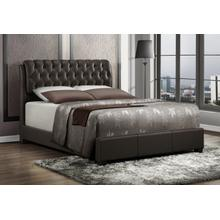 Barnes Brown Tufted Upholstered Queen Bed