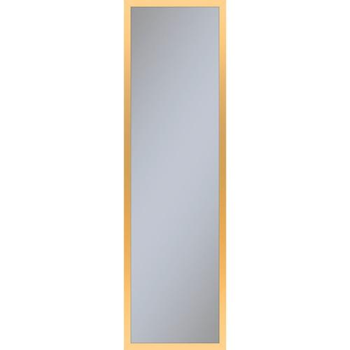 """Profiles 11-1/4"""" X 39-3/8"""" X 4"""" Framed Cabinet In Matte Gold With Electrical Outlet, Usb Charging Ports, Magnetic Storage Strip and Right Hinge"""