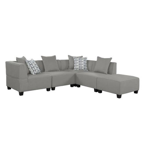 Gallery - 5-Piece Modular Sectional with Ottoman