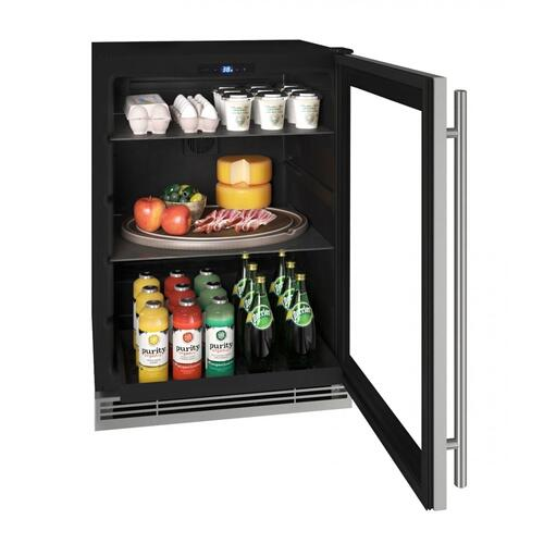 "Hre124 24"" Refrigerator With Stainless Frame Finish (115v/60 Hz Volts /60 Hz Hz)"