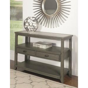 Null Furniture Inc - Sofa/Media Console in a Pearl Gray Finish       (2217-09,58253)