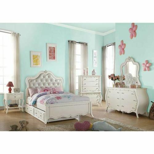 ACME Edalene Full Bed - 30500F - Pearl White
