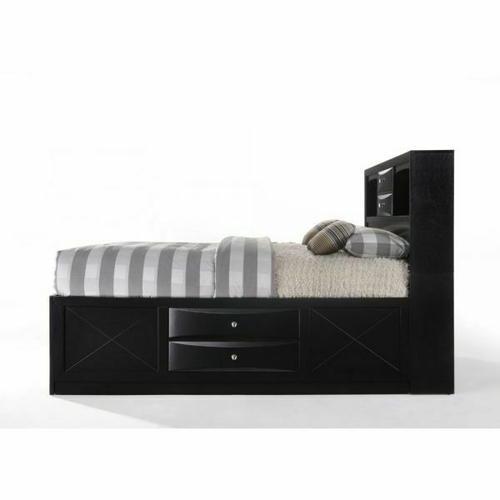 ACME Ireland Full Bed w/Storage - 21620F - Black