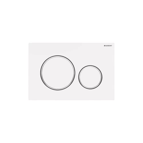 Sigma20 Dual-flush plates for Sigma series in-wall toilet systems Matte white with polished white accent NEW! Finish