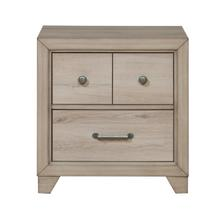 Youth Two Drawer Nightstand with USB in Brown