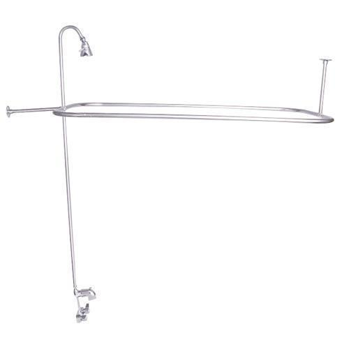 """Rectangular Shower Unit with Code Spout - Polished Chrome / 48"""" x 24"""""""
