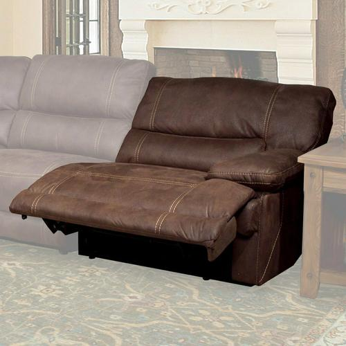 PEGASUS - DARK KAHLUA Power Right Arm Facing Recliner