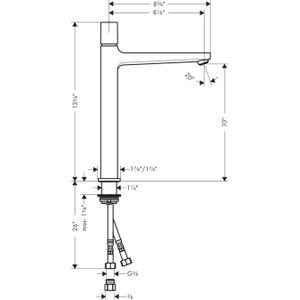 Chrome Single-Hole Faucet 260 Select, 1.2 GPM
