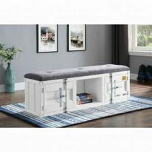 ACME Cargo Bench (Storage) - 35912 - Gray Fabric & White