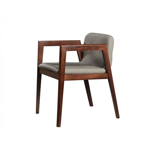 Gallery - Modrest Avrum - Modern Dark Grey Eco-Leather Dining Chair (Set of 2)