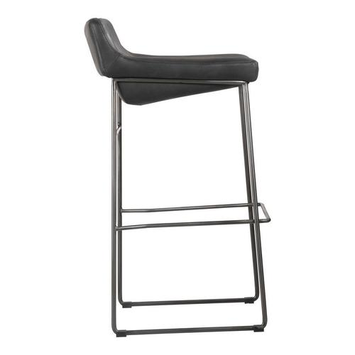 Moe's Home Collection - Starlet Barstool Black-m2