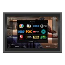 View Product - 10-inch In-wall Touch Screen, Black + Diamond-polished Aluminum accents