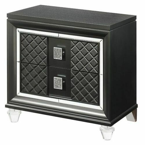 ACME Sawyer Nightstand - 27973 - Metallic Gray