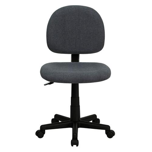 Low Back Gray Fabric Swivel Task Chair