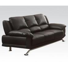 See Details - Black Bonded L. Match Sofa