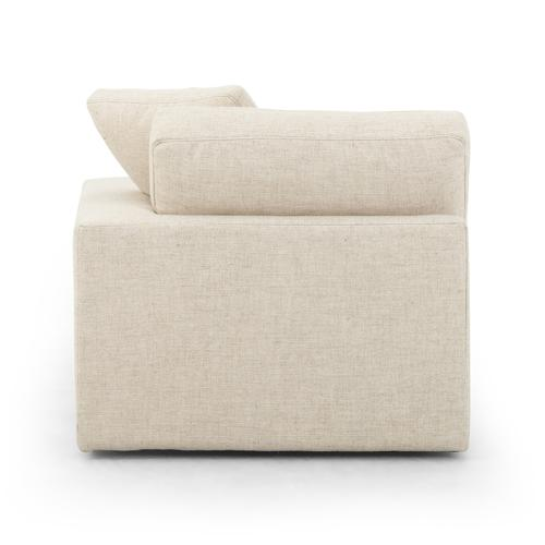 """Right Arm Facing Configuration Thames Cream Cover Plume Two-piece Sectional-106"""""""