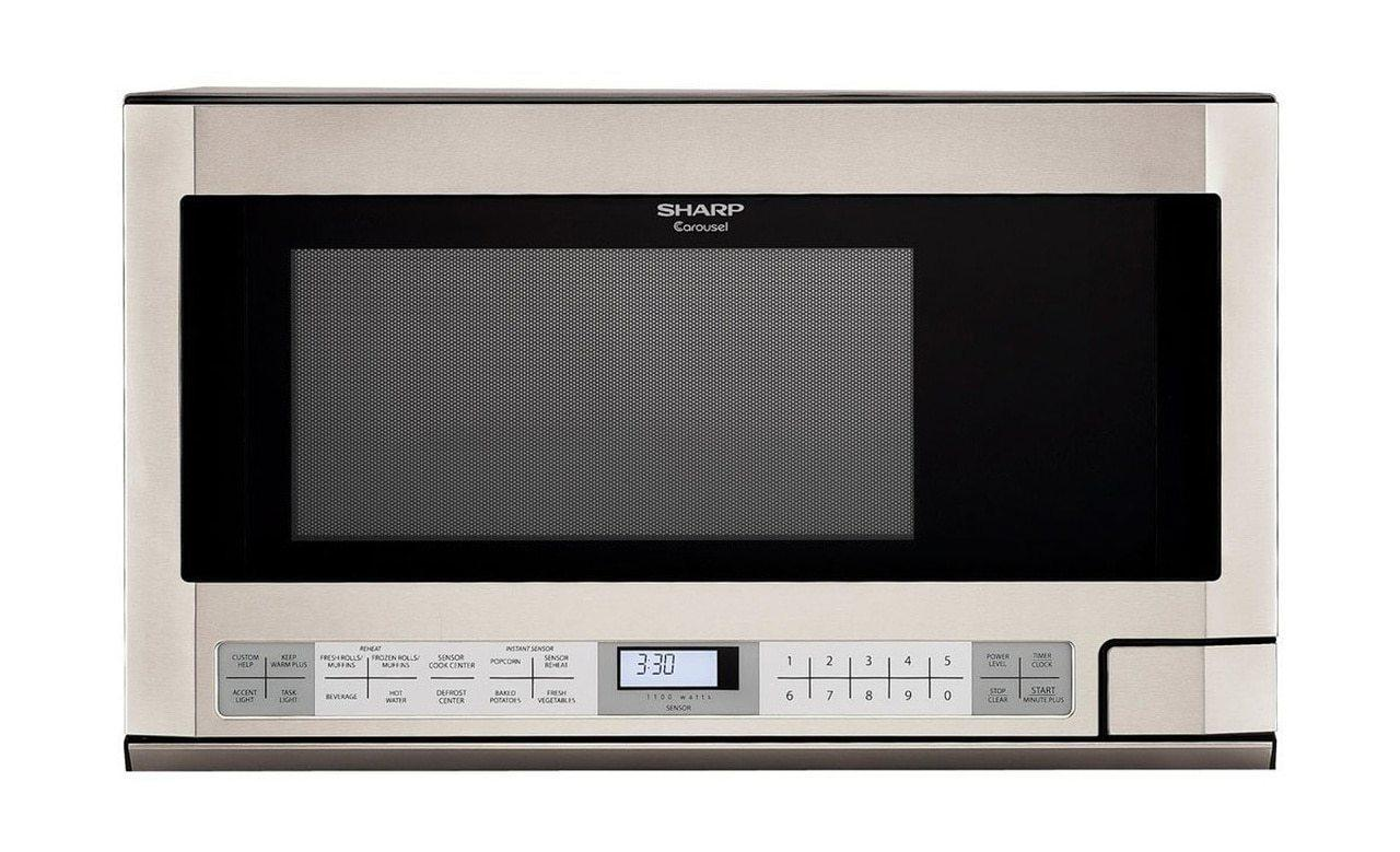 Sharp1.5 Cu. Ft. 1100w Stainless Steel Sharp Over-The-Counter Carousel Microwave Oven