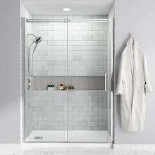 See Details - Studio 60x32-inch Acrylic Shower Base - Left Side Drain  American Standard - White