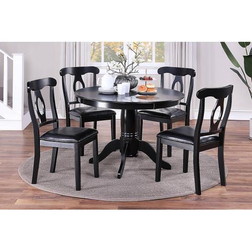 5-pc Dining Set--black