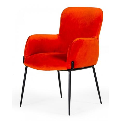 VIG Furniture - Modrest Frisco - Mid-Century Orange Velvet dining Chair